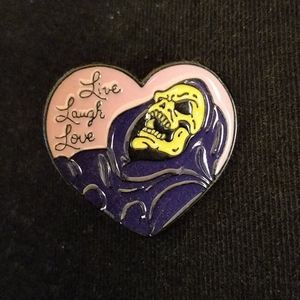 He-Man Skeletor pin Live Laugh Love